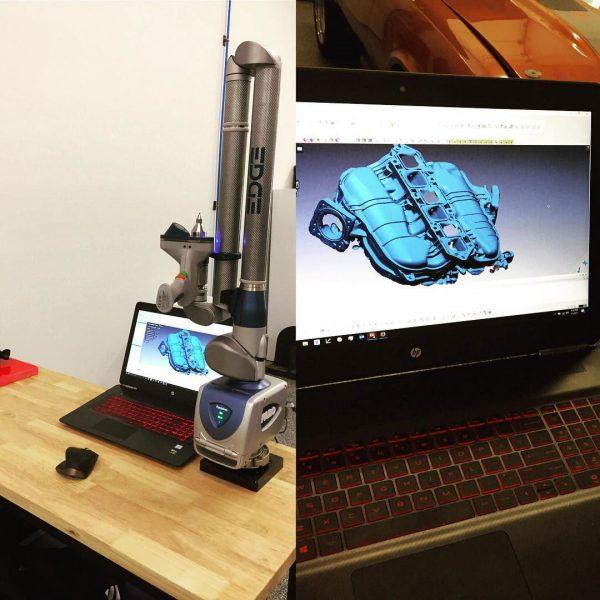 3D scanning intake manifold
